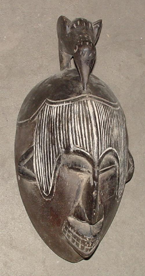 #448 Mask with Bird, Cameroon.