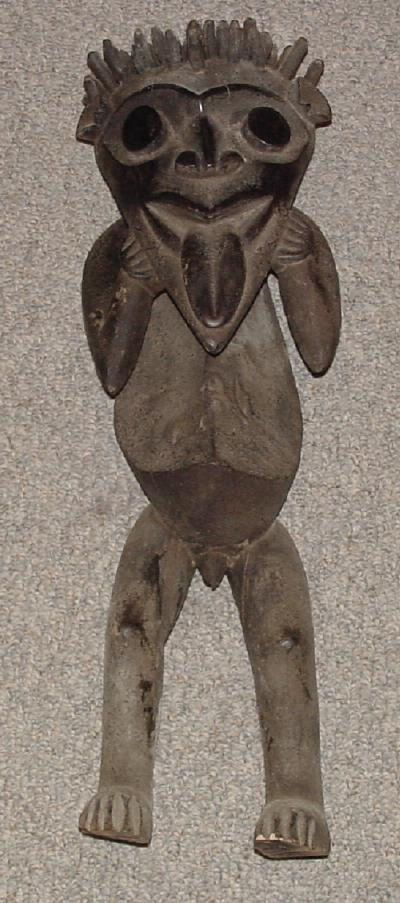 #69 - Mambila Male Figure. This male is paired with our # 40 Female Figure and should be sold as a pair.